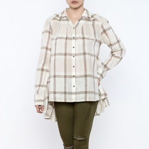 Free People Peppy in Plaid Button Down Top